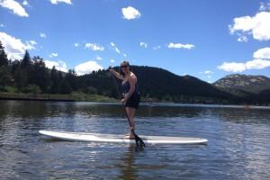 SUP at Evergreen Lake