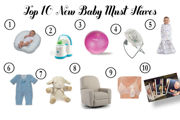 New Baby Items Collage