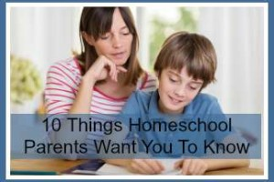 homeschooling moms want you to know