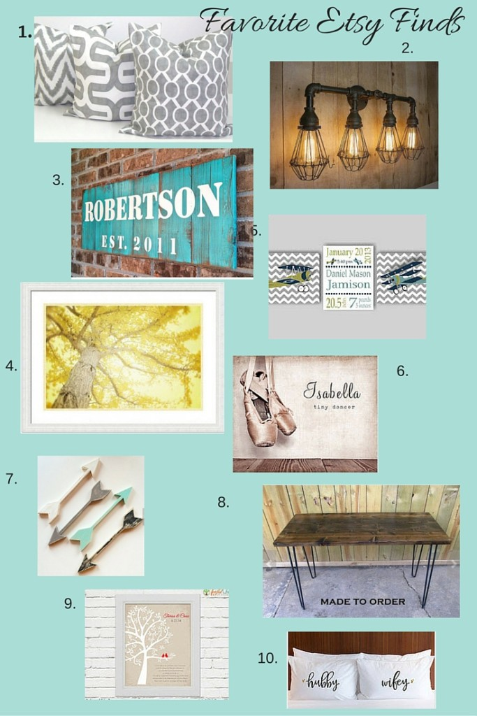favorite etsy finds for a new home