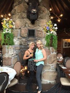 My friend Mallory and I celebrating Mother's Day together last year.