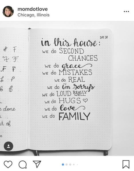Bullet Journal Family Rules