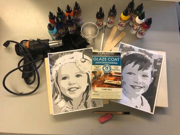 DIY portrait art supplies