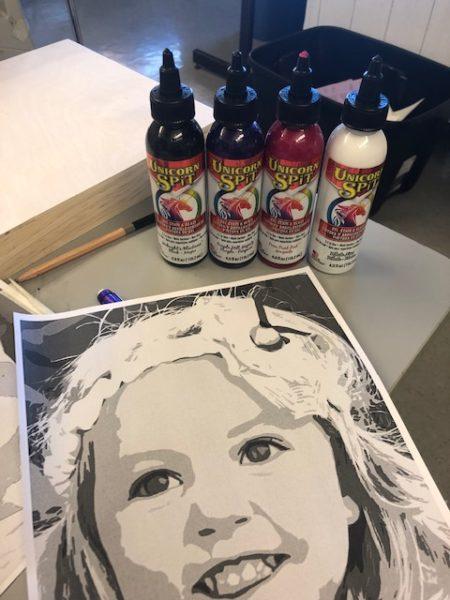 Unicorn Spit for DIY portrait art