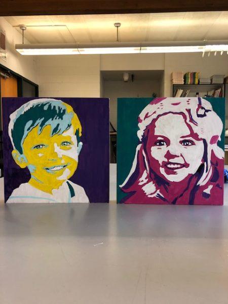 DIY portrait art final product